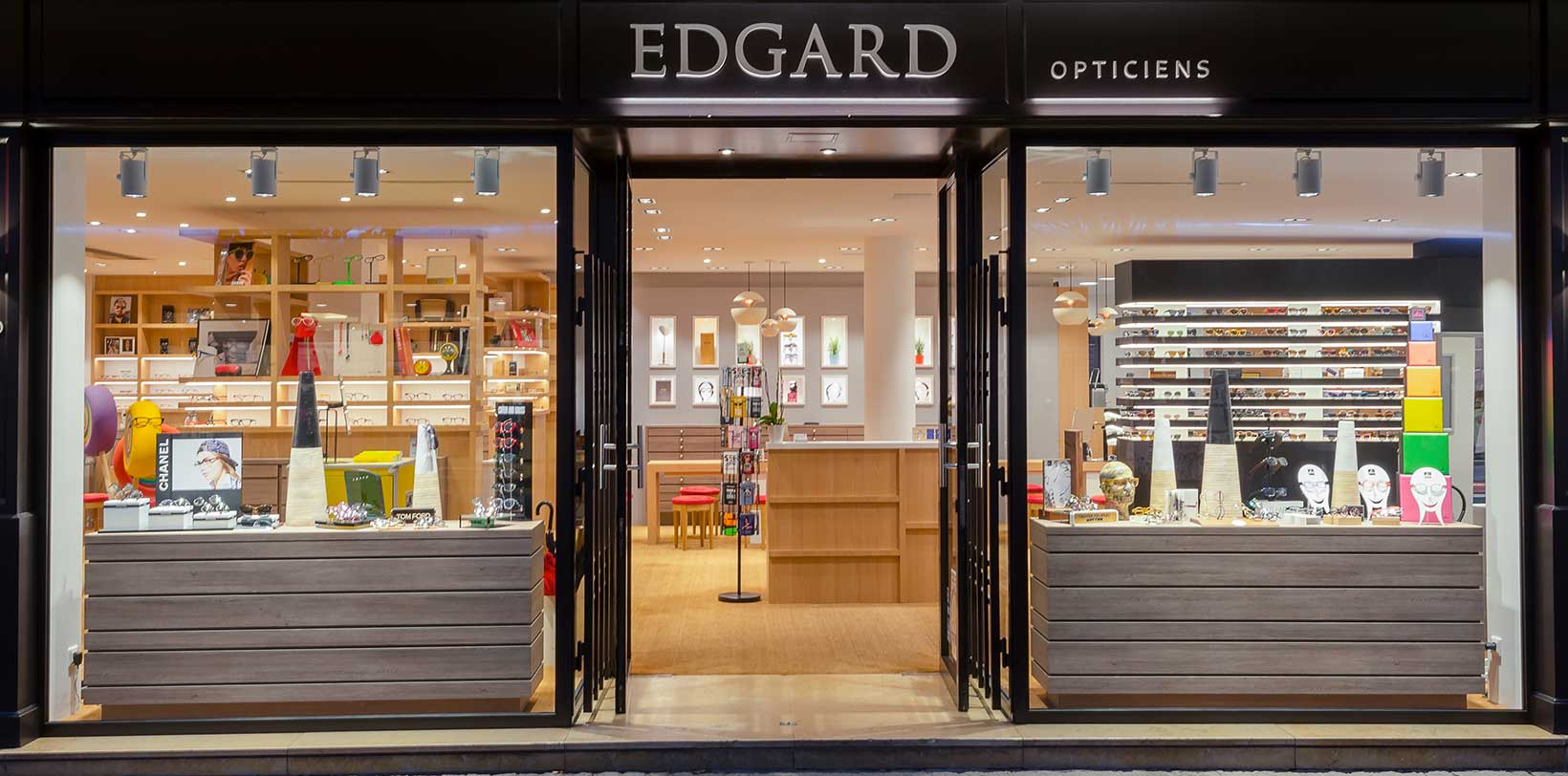 Edgard Opticiens devanture